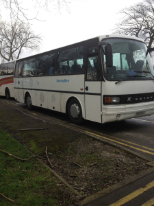 32 seater with toilet, boiler, fridge, sink, dvd